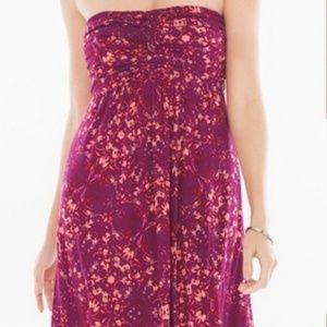 Soma Purple & Pink Strapless Dress